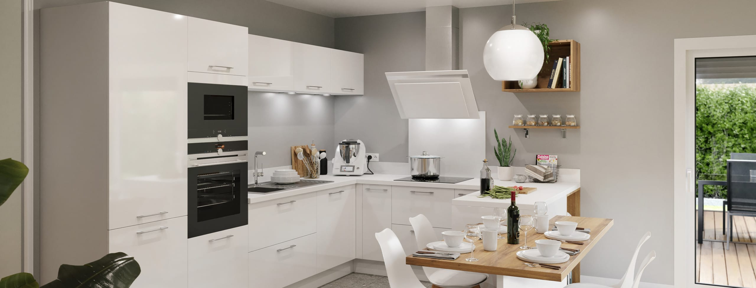 cuisine blanche discac