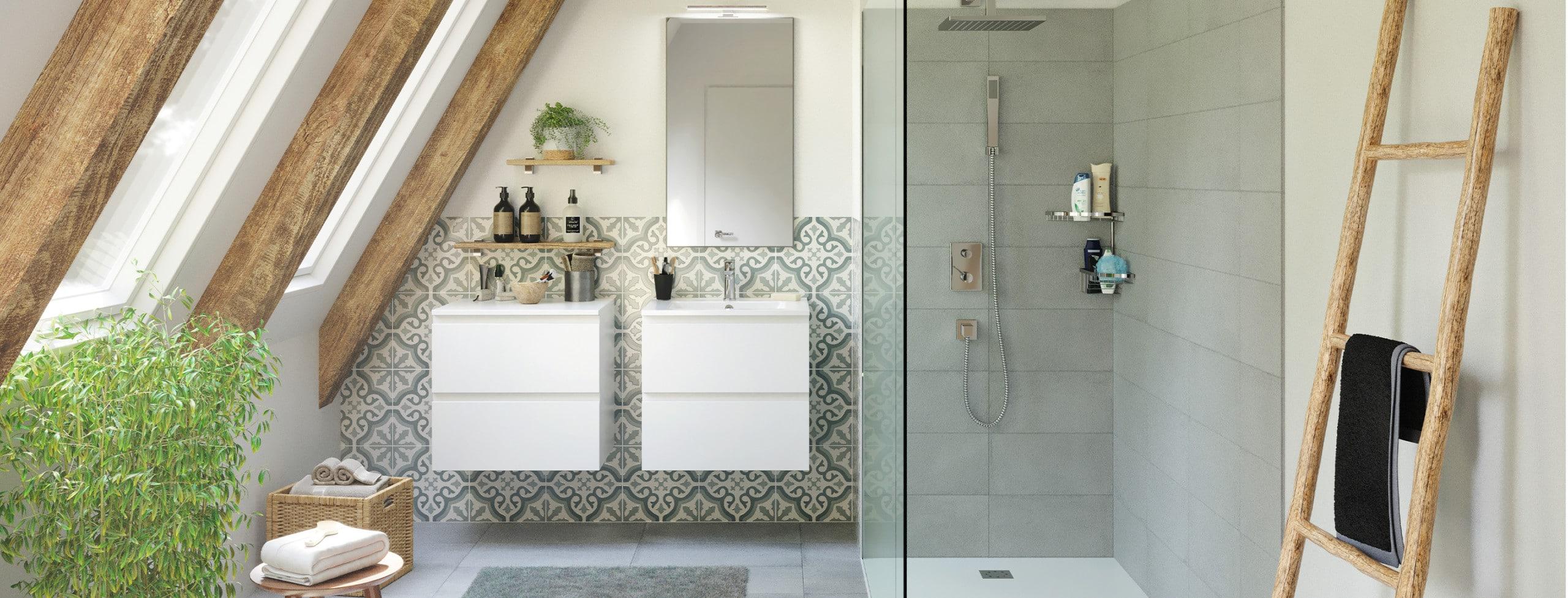 salle de bain blanche discac